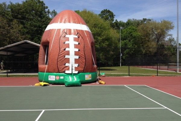Football Inflatable Bounce House for Sports Themed Party