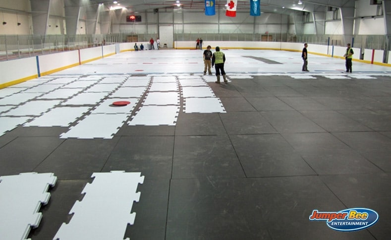 Assembling Ice Rink