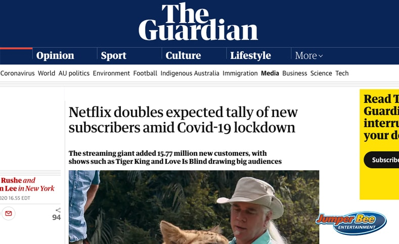 Netflix on The Guardian