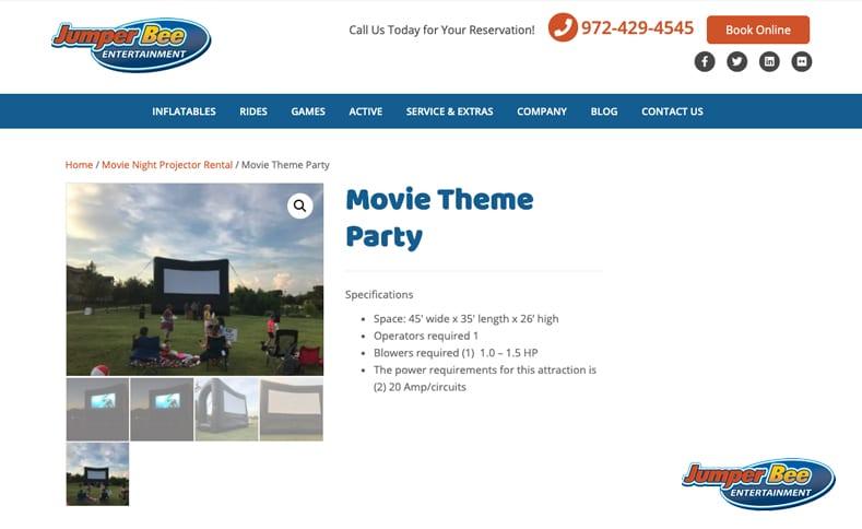 Home Movie Night Setup