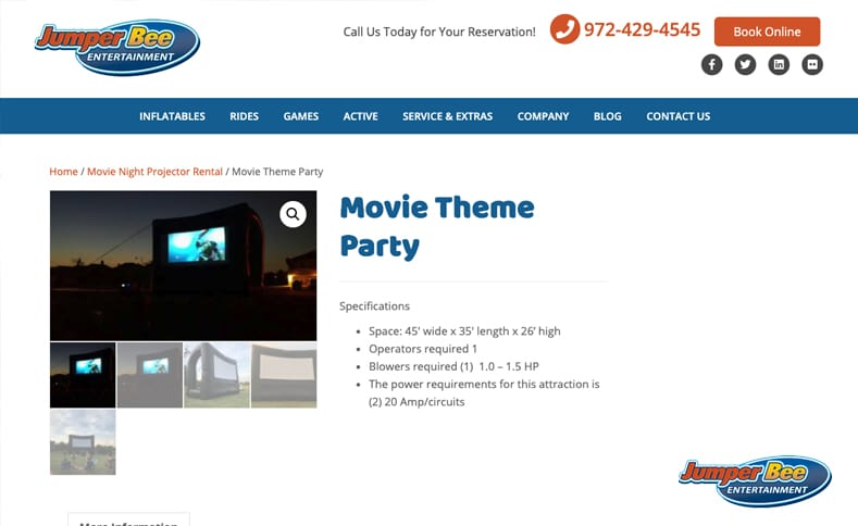 Movie Theme Party Rental